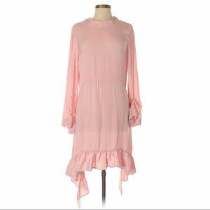 Zara | Flowy A-Line Pink Long Dress